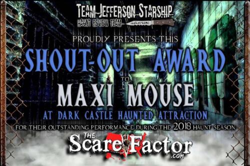 2018 Shout-Out Award to Scott Stepp by Scare Factor.