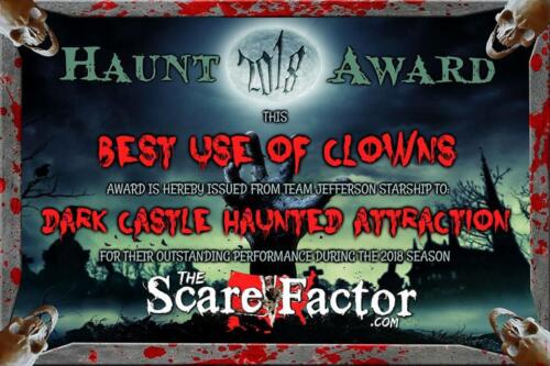 2018 Best Use of Clowns Award by Scare Factor.