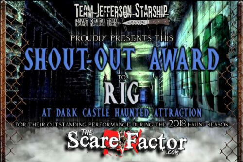 2018 Shout-Out Award to Elizabeth Oliveira by Scare Factor.