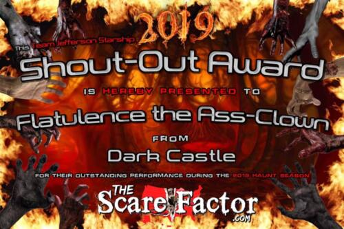 2019 Shout-Out Award to Scott Stepp by Scare Factor.