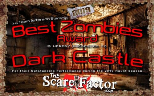 2019 Best Zombies Award by Scare Factor.