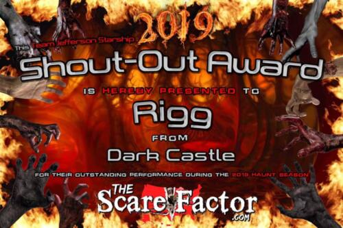 2019 Shout-Out Award to Elizabeth Oliveira by Scare Factor.